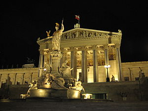 Austrian Parliament Building by night.jpg