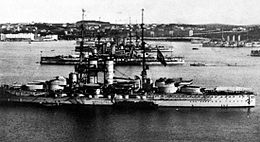 Austro-Hungarian Dreadnoughts At Pula.jpg