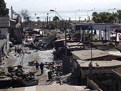Avenida Baquedano destruida.JPG