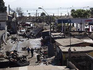 2015 Illapel earthquake - Image: Avenida Baquedano destruida