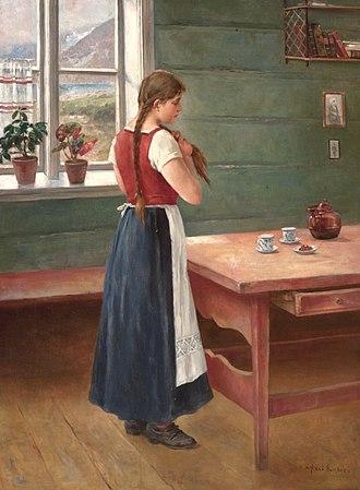 Axel Ender - Image: Axel Ender Pike på kjøkkenet