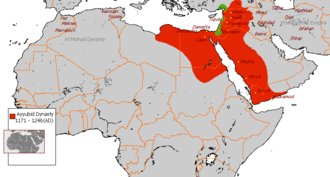 Egypt in the Middle Ages - The Ayyubid Empire at its greatest extent