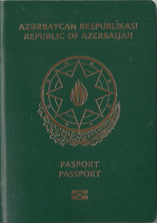 Azerbaijani passport issued to the citizens of Azerbaijan for the purpose of international travel