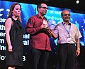 B. Vijayan presenting the Silver Peacock Award for Best Actor (Male) to Alan Mono Aboutboul for the Film 'A Place in Heaven' , at the closing ceremony of the 44th International Film Festival of India (IFFI-2013), at Panaji.jpg