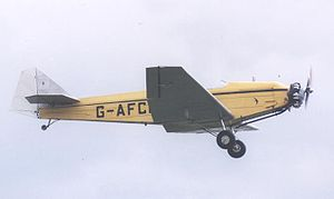 British Aircraft Swallow - 1937-built BA Swallow 2 G-AFCL with Pobjoy engine, in May 2003