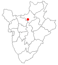Location of Ngozi in Burundi