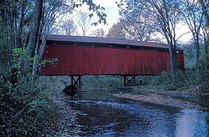 Bistline Covered Bridge - Image: BISTLINE COVERED BRIDGE