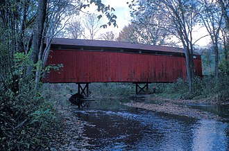 National Register of Historic Places listings in Perry County, Pennsylvania - Image: BISTLINE COVERED BRIDGE