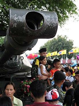 Tayland, 24 Eylül 2006 askeri darbesinden bir görüntü.