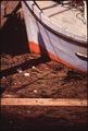BOW OF FISHING BOAT IN POLLUTED HARBOR - NARA - 545270.tif
