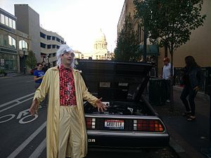 Back to the Future (franchise) - Image: Back To The Future Day Boise Cos Play