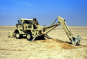 Backhoe loader during Operation Desert Storm.JPEG