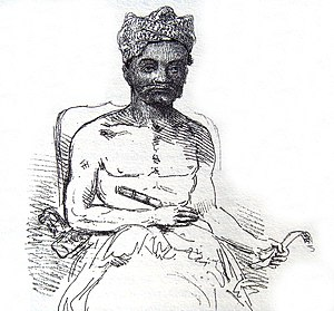 The History of Java - Balinese Raja, in Thomas Stamford Raffles's The History of Java, 1817