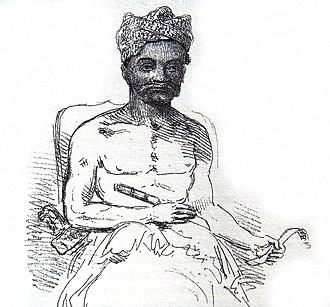 The History of Java - Balinese Raja, in Thomas Stamford Raffles's The History of Java, 1817