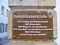Bamberg, Dominikanerstr. 10 - Schild.JPG