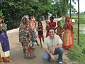 Bangladeshi villagers and foreigner.jpg