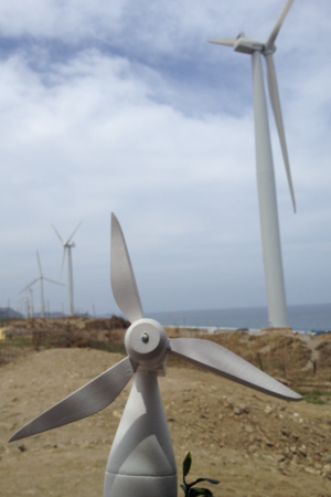 Bangui, Ilocos Norte - Image: Bangui Windmills with miniature