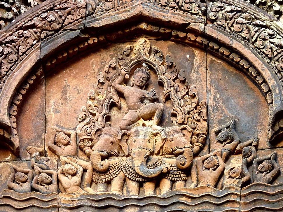 Banteay Srei - 032 Indra on Airavata (8581494845)