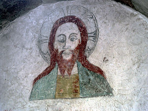 Barlingbo Church - Image: Barlingbo Christ 01