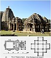 Baroli temple Rajasthan, photo and its plan.jpg