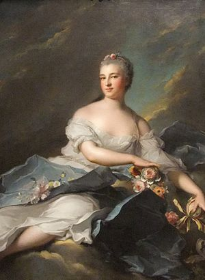 1752 in art - Image: Baronne Rigoley d'Ogny as Aurora by Nattier