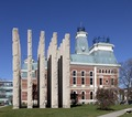 Bartholomew County Memorial for Veterans, designed by Thompson and Rose Architects. Courthouse Square, Columbus, Indiana LCCN2013650696.tif