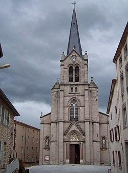 Bas-en-Basset (Haute-loire) eglise Saint-Thyrse 01.JPG