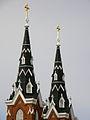 Basilica of Saint Francis Xavier (Dyersville, Iowa), exterior, detail of spires.jpg