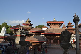 Kathmandu Durbar Square - Hanumandhoka in morning sunshine