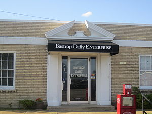 Bastrop, Louisiana - Bastrop Daily Enterprise newspaper office