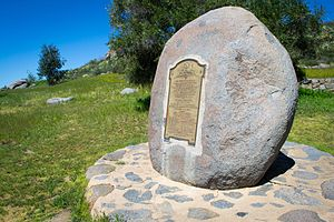 San Pasqual Battlefield State Historic Park - A plaque commemorates the Battle of San Pasqual