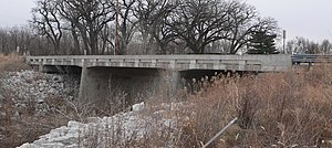 National Register of Historic Places listings in Lancaster County, Nebraska - Image: Beal Slough Pioneers Blvd bridge from DS