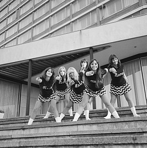 The Beat Room - The Beat Girls (1966), from left, Dee Dee Wilde, Lorelly Harris, Babs Lord, Diane South, Flick Colby, Penny Fergusson