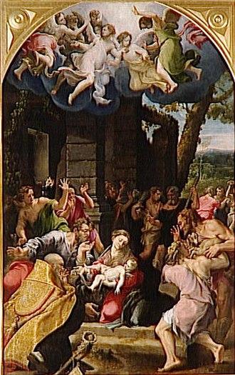 Girolamo Mazzola Bedoli - Image: Bedoli Parma Adoration Shepherds