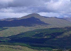 Beinn Challuim - Beinn Challum seen from the high ground around Crianlarich, 12 km to the south.