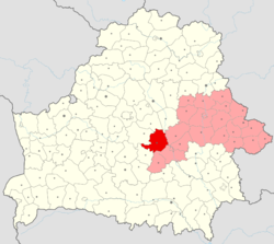 Location of Asipovichy District
