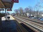 Bellerose LIRR Station; Hicksville-bound M3 arrives.jpg