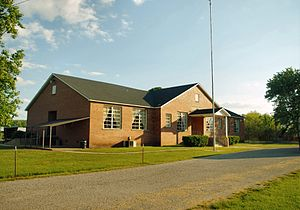 Belvidere, Tennessee - The old Belvidere School, now a community center, in Belvidere, Tennessee