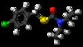 Benthiocarb molecule ball.png
