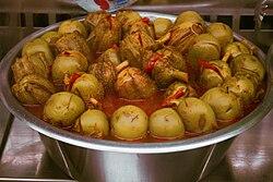 Berenjenas de Almagro en la cocina de la abuela