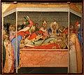 Bernardo daddi, storie di santo stefano, 1337-38 (musei vaticani) 09 rincongiungim. delle reliquie di stefano e lorenzo 1.jpg