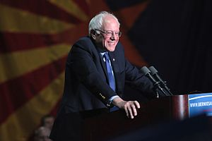 United States presidential election in Arizona, 2016 - Senator Bernie Sanders at a campaign rally at the Phoenix Convention Center in Phoenix on March 15, 2016.