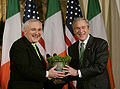 BertieAhern, Shamrocks & GeorgeWBush, 2007March16.jpg