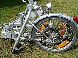 Bickerton (bicycle) - Bickerton Portable folded