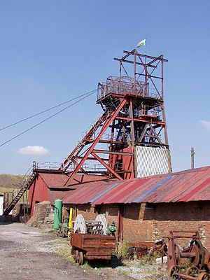 Big Pit National Coal Museum - Big Pit winding tower