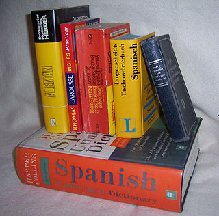 specialized dictionary used to translate words or phrases from one language to another