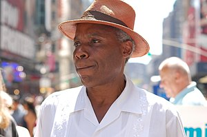 Bill Perkins (politician) - Bill Perkins speaking at Times Square in New York City, 2008.