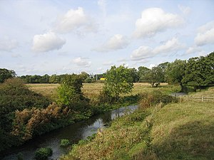 River Blythe - Blythe Valley, looking north along the River Blythe near Eastcote