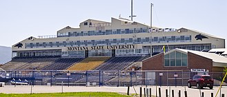 Montana State University - Bobcat Stadium, shown here in 2013, opened in 1973 and was originally known as Reno H. Sales Stadium. It received its current name in 1998.