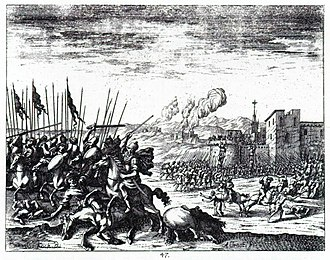 History of Slovenia - The Ottoman army battling the Habsburgs in present-day Slovenia during the Great Turkish War.